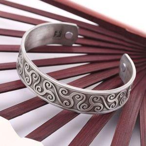 Irish Celtic Triskele Triskelion  Cuff Bracelet